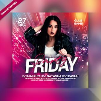 Freitag party flyer vorlage