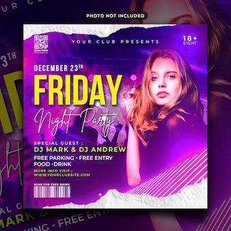 Freitagabend-party-flyer oder instagram-post