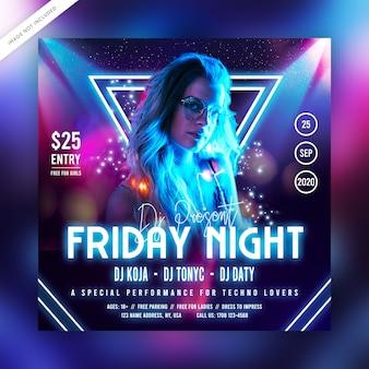 Freitagabend party flyer oder social media post