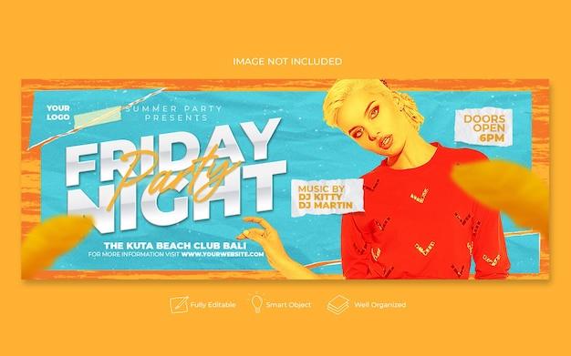 Freitagabend party flyer social media post webbanner