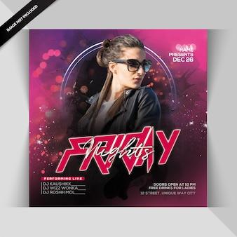 Freitagabend party flyer