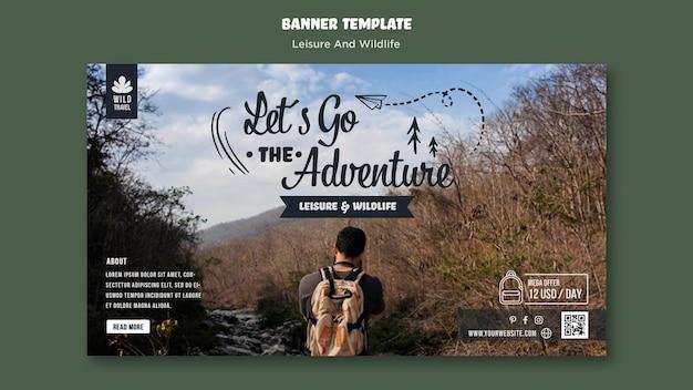 Freizeit und wildtier banner vorlage