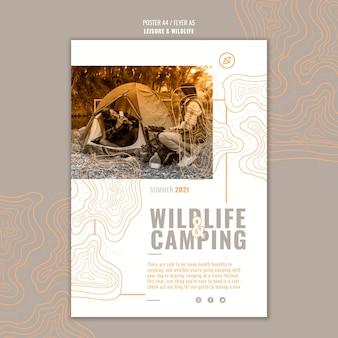 Freizeit- und wildtierplakatschablone