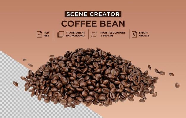 Frisch geröstete kaffeebohnen szene schöpfer