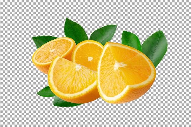 Frisch geschnittene orangen und orangenfrüchte