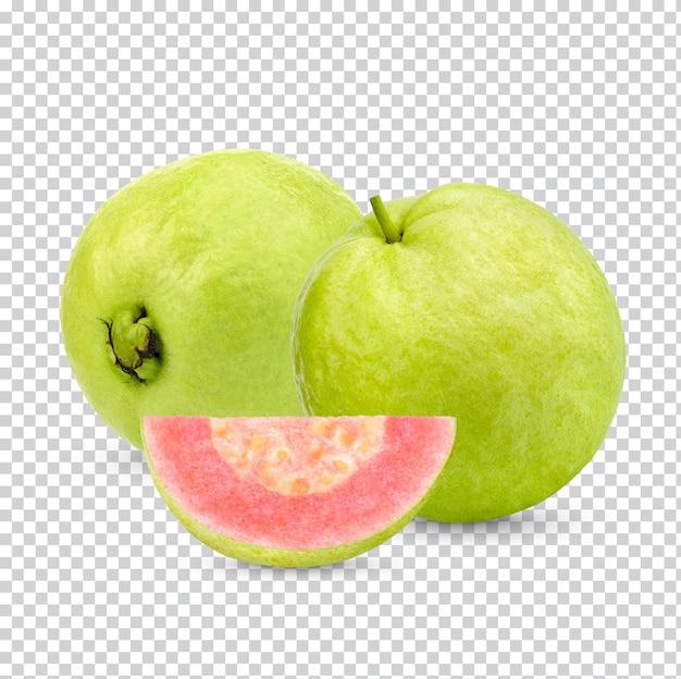 Frische guavenfrucht isoliert premium psd