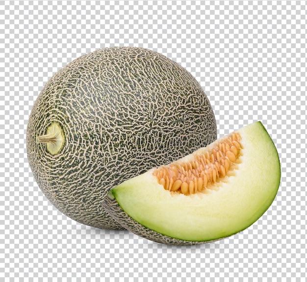 Frische japanische melonen isoliert premium psd