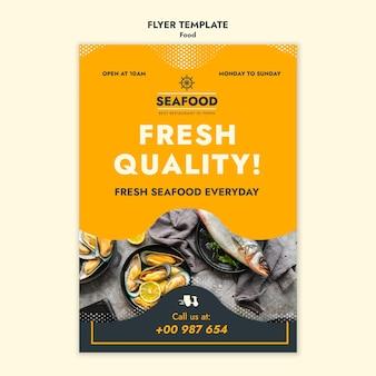 Frische meeresfrüchte-flyer-vorlage