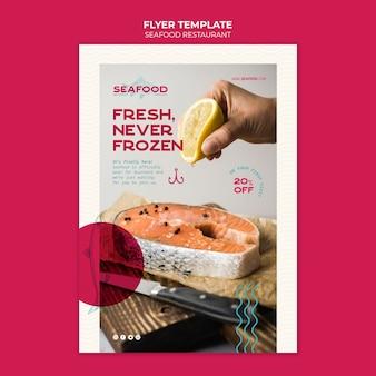 Frische meeresfrüchte restaurant flyer vorlage
