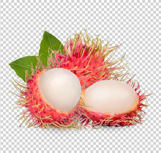 Frische rambutanfrucht isoliert premium psd