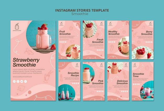 Frische smoothie-instagram-geschichten