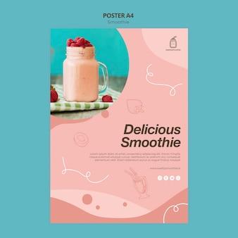 Frische smoothie-plakatschablone mit foto