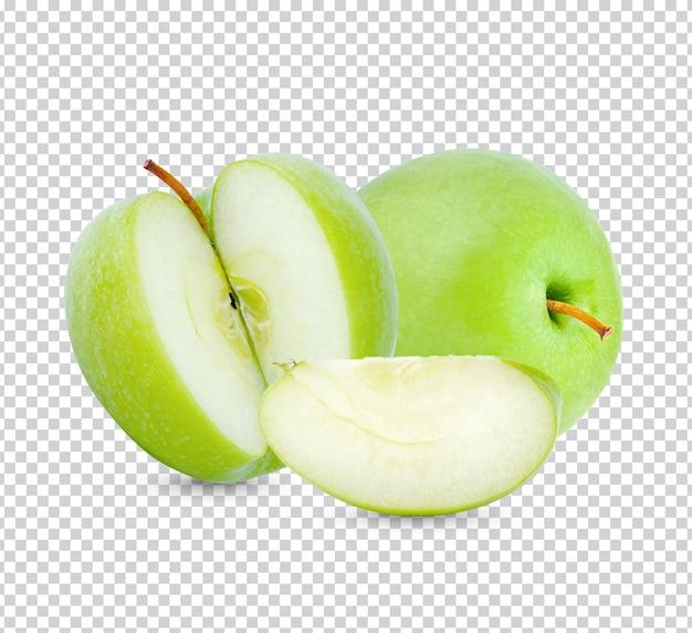 Frischer grüner apfel isoliert premium psd