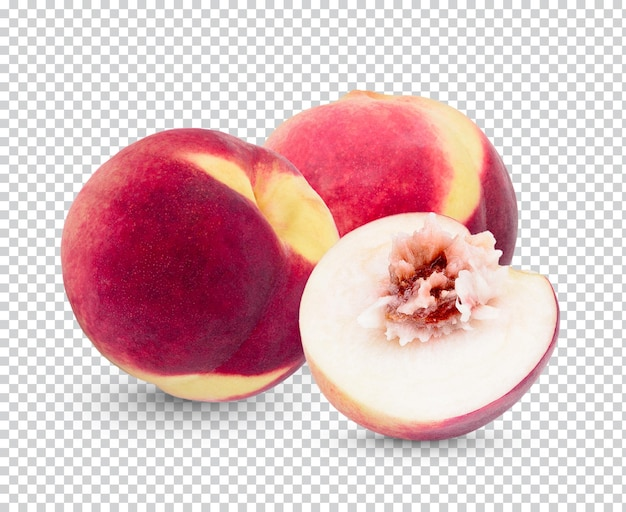Frischer pfirsich isolierte permium psd