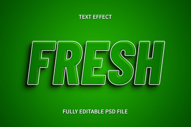 Frischer texteffekt
