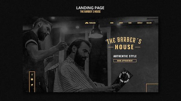 Friseur-landingpage-vorlage