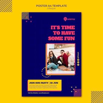 Frohe lifestyle-plakatvorlage