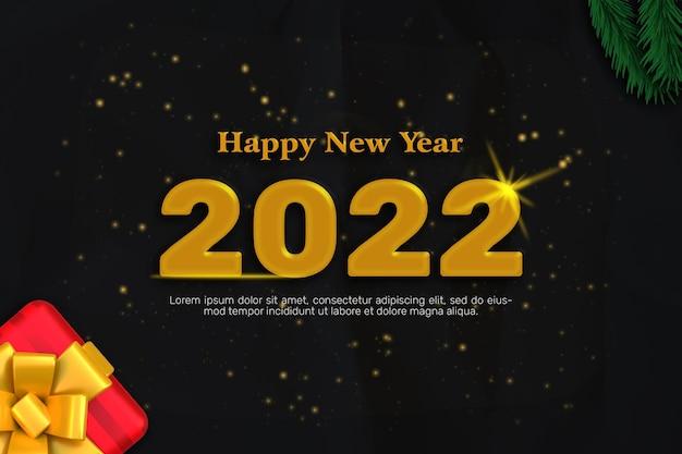 Frohe neujahrsgrußkarte 2022