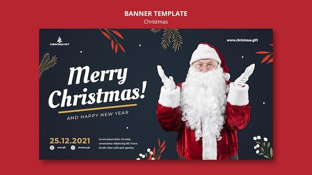 Frohe weihnachten-banner-vorlage