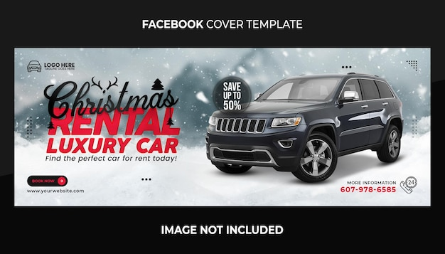 Frohe weihnachten-facebook-cover und web-banner-vorlage