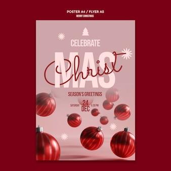 Frohe weihnachten feier flyer