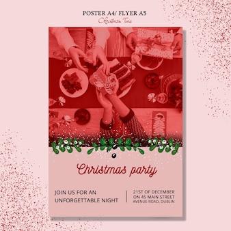 Frohe weihnachten-flyer-konzept