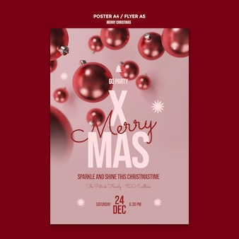 Frohe weihnachten flyer vorlage