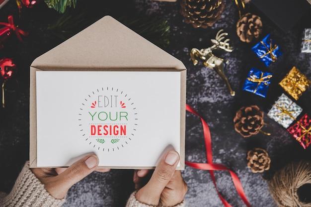 Frohe weihnachten grußkarte modell