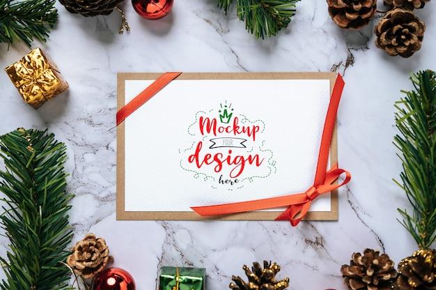 Frohe weihnachten grußkarte psd