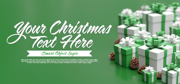 Frohe weihnachten grußkartenvorlage
