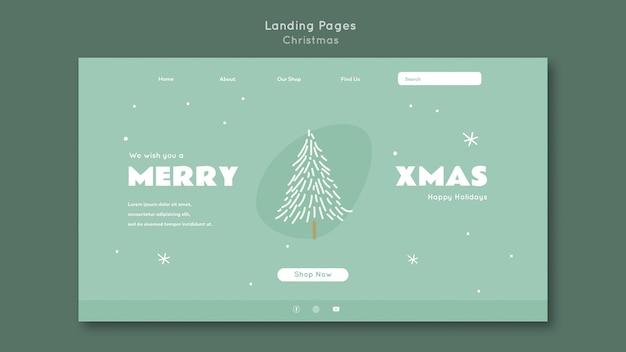 Frohe weihnachten landing page vorlage Premium PSD