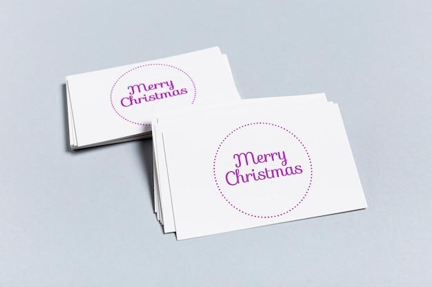 Frohe weihnachten mock-up visitenkarte vorlage