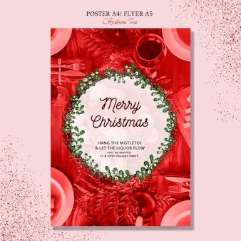 Frohe weihnachten-plakat-konzept