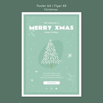 Frohe weihnachten poster vorlage