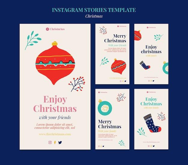 Frohe weihnachten social-media-geschichten eingestellt