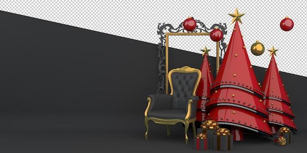 Frohe weihnachten und ein gutes neues jahr 3d-rendering