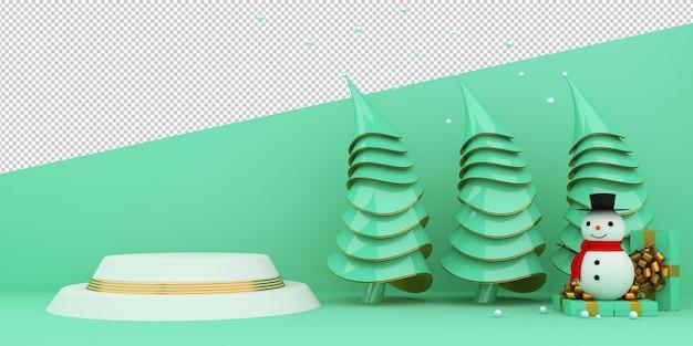Frohe weihnachten und ein gutes neues jahr 3d rendering
