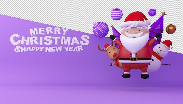 Frohe weihnachten und ein gutes neues jahr card mockup