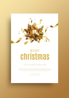 Frohe weihnachten und happy new year grußkartenvorlage
