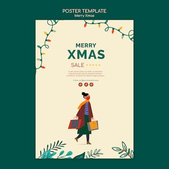 Frohe weihnachten verkaufsdruckvorlage
