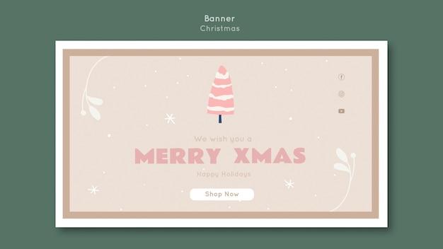 Frohe weihnachten vorlage banner
