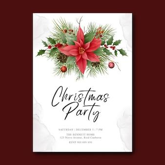 Frohe weihnachten vorlage mit weihnachtsverzierung dekorationen