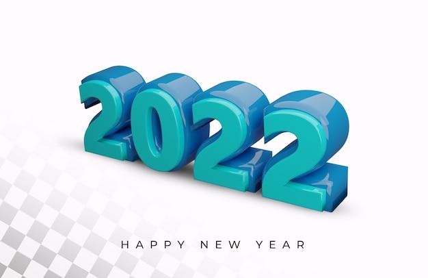 Frohes neues jahr 2022 3d-texteffekt