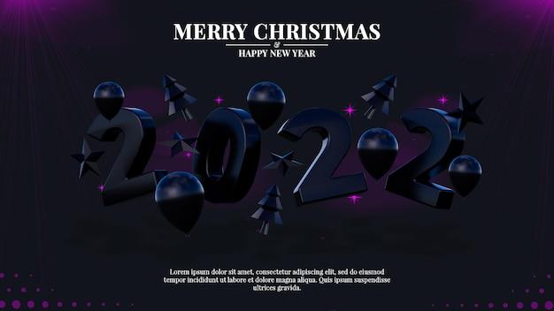 Frohes neues jahr und weihnachtsbanner-social-media-post-vorlage