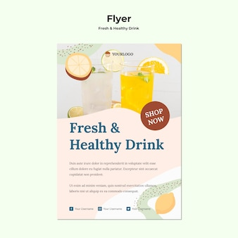Fruchtsaft flyer vorlage Kostenlosen PSD