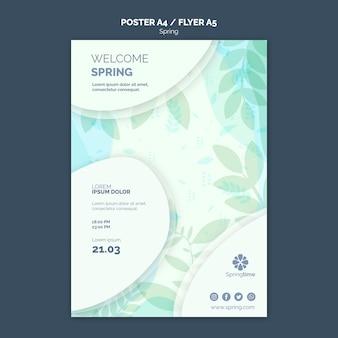 Frühling plakat vorlage