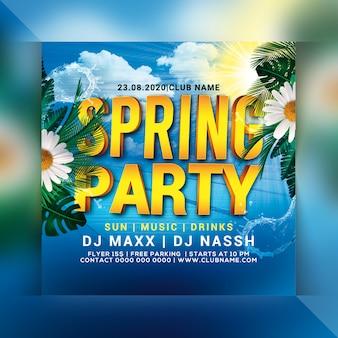 Frühlingsparty flyer