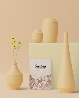 Frühlingszeit mit dekorationen im thema 3d
