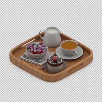 Frühstück 3d übertragen