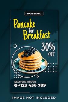 Frühstück pfannkuchen instagram geschichte vorlage